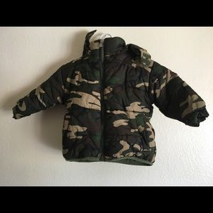 Camouflage Puffy Winter Jacket
